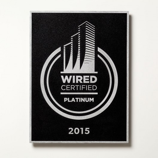 Wired Certification Wall-Mounted Aluminum Plaque - USA