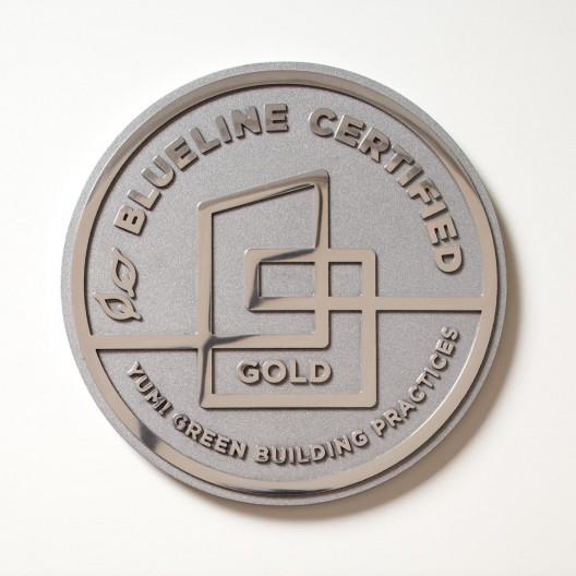 "Blueline Certified - 8"" Polished Aluminum Plaque"