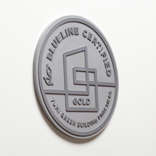 "Blueline Certified - 8"" Brushed Aluminum Plaque"