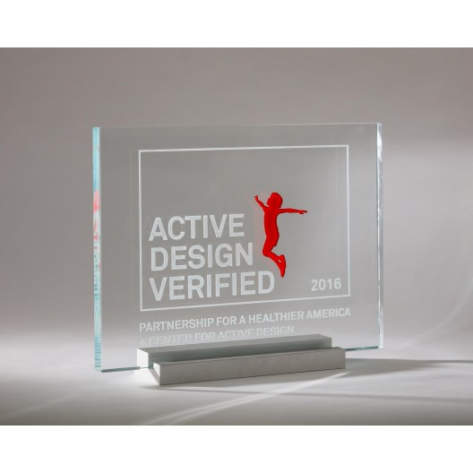 Center for Active Design-Plaque Stand