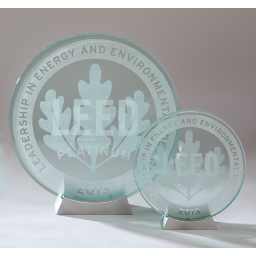 Clear Laser Etched Plaque