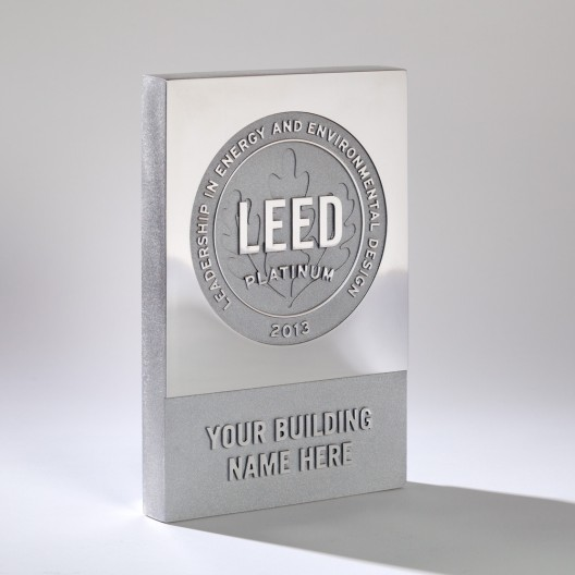 aluminum dedication plaque leed green plaque green plaque. Black Bedroom Furniture Sets. Home Design Ideas