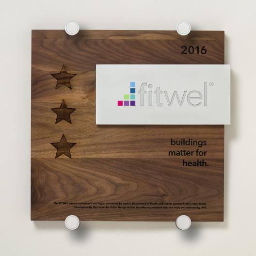 Fitwel - Wood and Aluminum Plaque