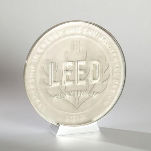 Platinum Leaf Glass Plaque