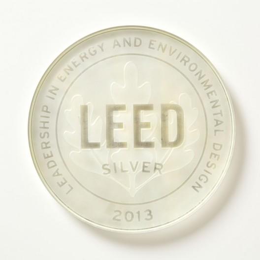 Silver Leaf Glass Plaque