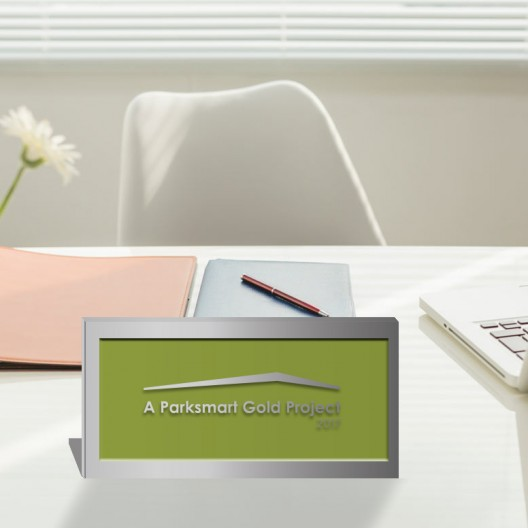 Parksmart – Polished Aluminum Desktop Plaque