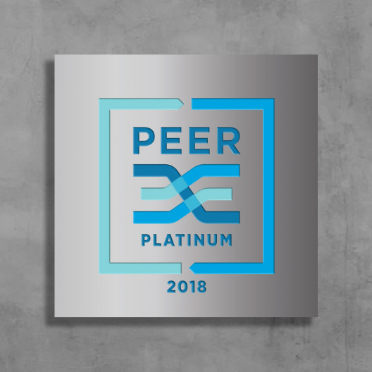 PEER Certification – Brushed Aluminum Wall-Mounted Plaque