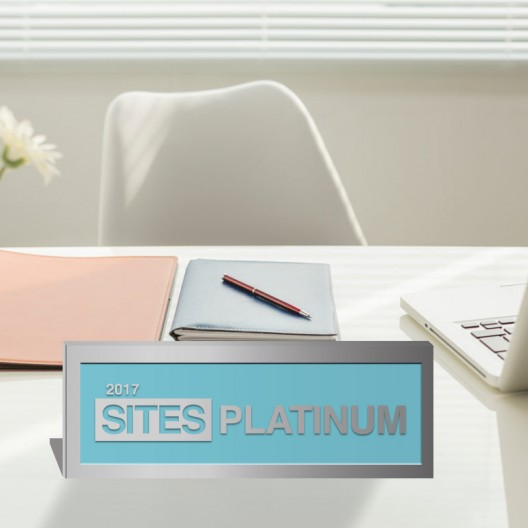 SITES Certification – Polished Aluminum Desktop Plaque