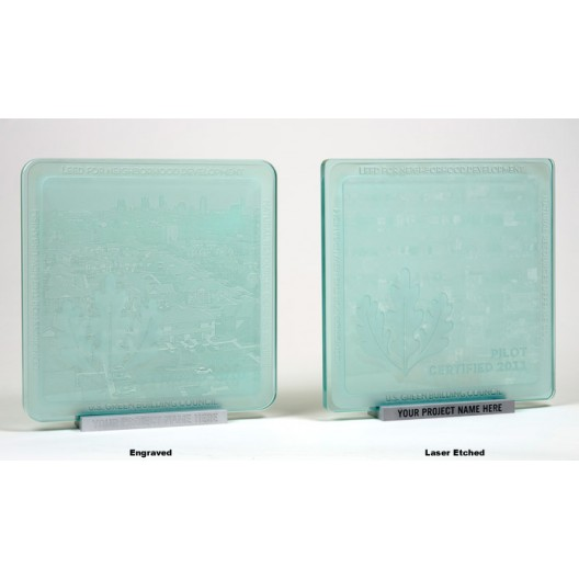 """Laser Etched or Engraved Plaque Stand for Square Plaque 3/4"""" Thick"""