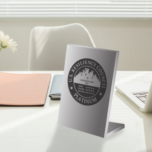 USRC – Brushed Aluminum Desktop Plaque