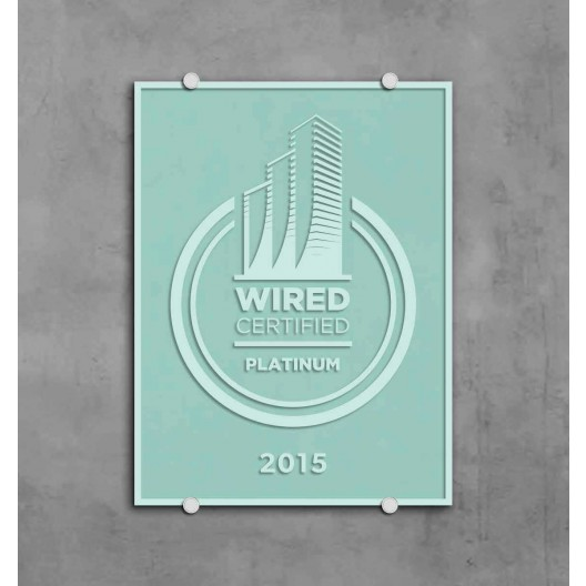 Wired Certification Sand Blasted Glass Plaque - USA
