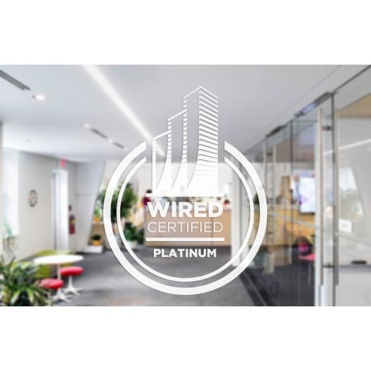 Wired Certification Sticker-White Translucent - USA