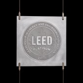 Cable Suspension Aluminum LEED Plaque and Hardware System