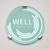 WELL Plaque-Clear Sand Blasted Glass
