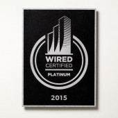 Wired Certification Wall-Mounted Aluminum Plaque - INTERNATIONAL