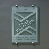 TRUE Zero Waste Glass Plaque