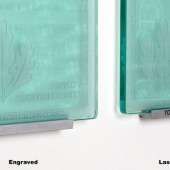 "Laser Etched or Engraved Type C for Square Plaque 3/4"" Thick"