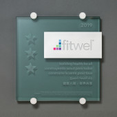 Fitwel - Glass and Aluminum Plaque