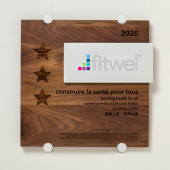 Fitwel - Wood and Aluminum Plaque-FRENCH