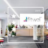 Fitwel - White Translucent Sticker