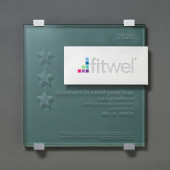 Fitwel - Glass and Aluminum Plaque - FRENCH