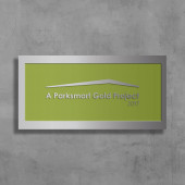 Parksmart– Brushed Aluminum Wall-Mounted Plaque