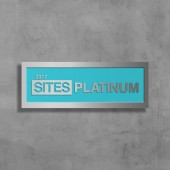 SITES Certification – Polished Aluminum Wall-Mounted Plaque