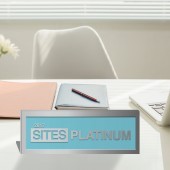 SITES Certification – Brushed Aluminum Desktop Plaque