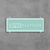 SITES Certification - Sand Blasted Glass Plaque