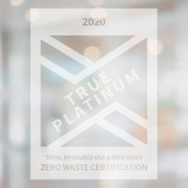 TRUE Zero Waste Frosted Sticker