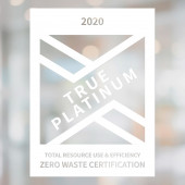 TRUE Zero Waste White Sticker