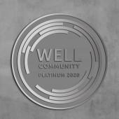 WELL COMMUNITY Plaque-Brushed Aluminum