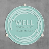 WELL COMMUNITY Plaque-Clear Sand Blasted Glass