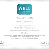 WELL Certificates: Precertified v1 Projects