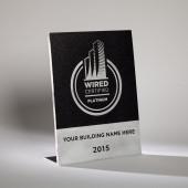 Wired Certification Aluminum Desktop Plaque - INTERNATIONAL