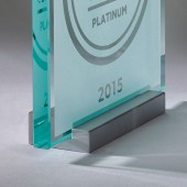 Wired - Brushed Aluminum Plaque Stand - USA