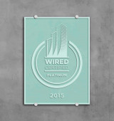 Wired Certification Sand Blasted Glass Plaque - INTERNATIONAL