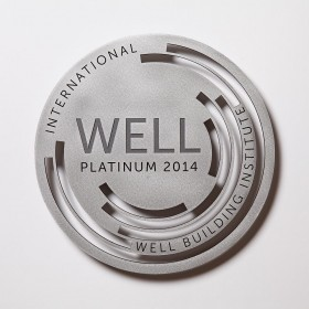 WELL Plaque-Water Jet Cut Polished Aluminum