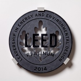 Water Jet Cut Recycled Glass Plaque