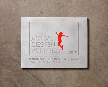 Center for Active Design-Aluminum Plaque