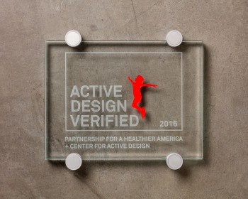 Center for Active Design-Glass Plaque