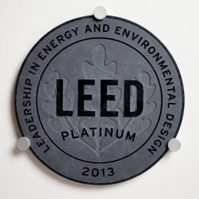 Recycled Glass Plaque