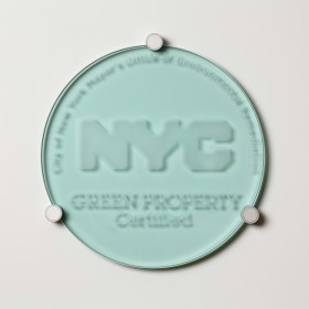 NYC Plaque - Clear Sand Blasted Glass