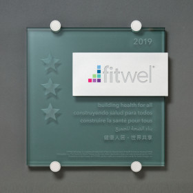 Fitwel - Glass and Aluminum Plaque