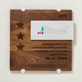 Fitwel - Wood and Aluminum Plaque
