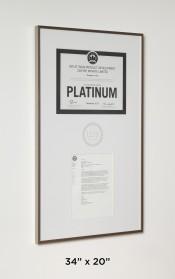 LEED Certificate & Letter in Aluminum Frame