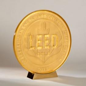Gold Leaf Glass Plaque