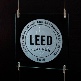 Cable Suspension LEED Plaque and Hardware System