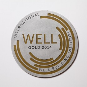 WELL Plaque-Paint Filled Aluminum
