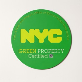 NYC Plaque - Engraved Painted Aluminum